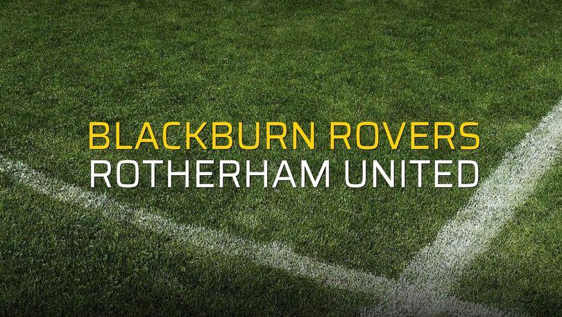 Blackburn Rovers: 1 - Rotherham United: 1