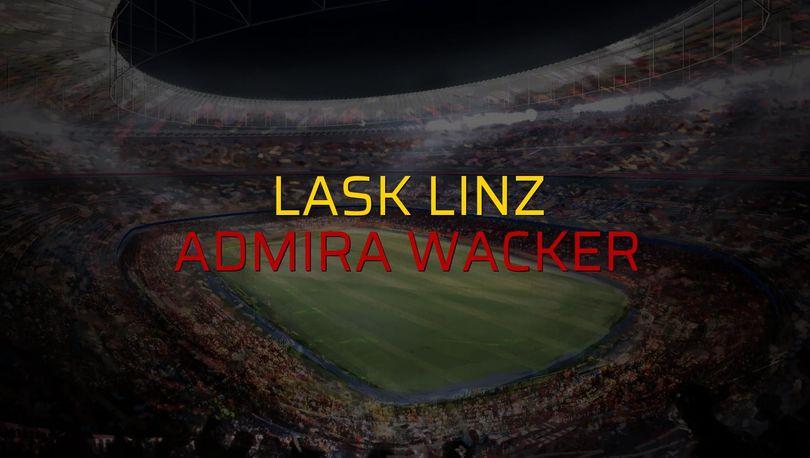 Maç sona erdi: Lask Linz: 4 - Admira Wacker:1