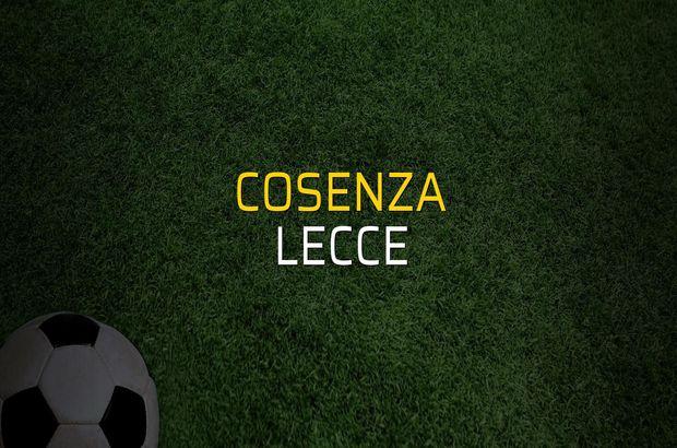 Cosenza: 2 - Lecce: 3 (Maç sona erdi)
