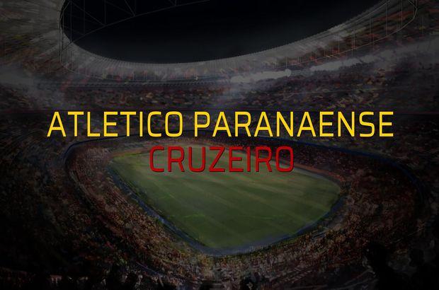 Atletico Paranaense - Cruzeiro maçı istatistikleri