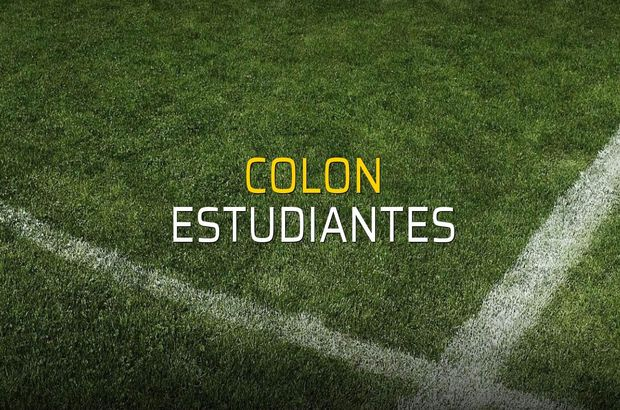 Colon - Estudiantes maçı rakamları
