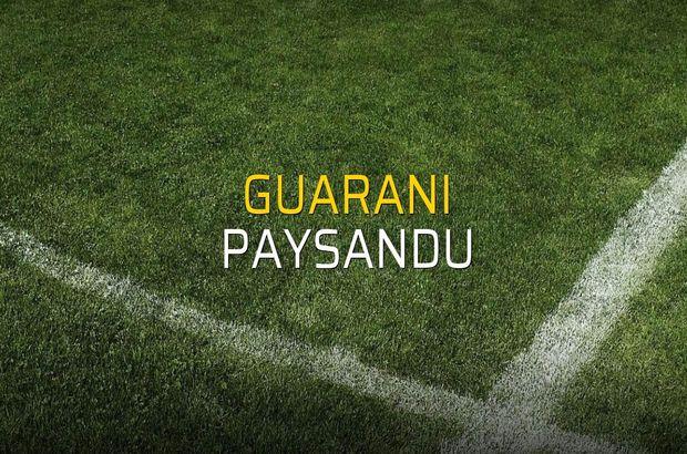Guarani - Paysandu maçı rakamları
