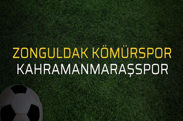 Zonguldak Kömürspor - Kahramanmaraşspor maçı öncesi rakamlar