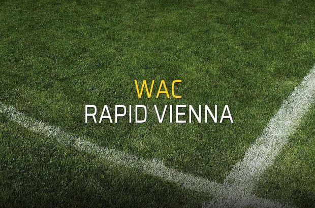 WAC - Rapid Vienna karşılaşma önü