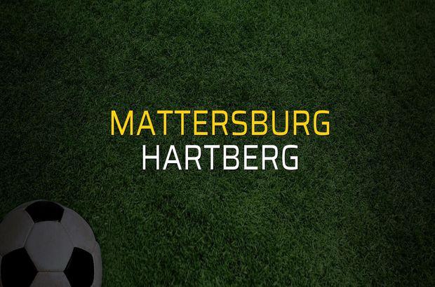 Mattersburg - Hartberg sahaya çıkıyor