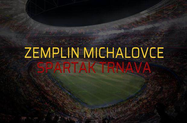 Zemplin Michalovce - Spartak Trnava maçı istatistikleri