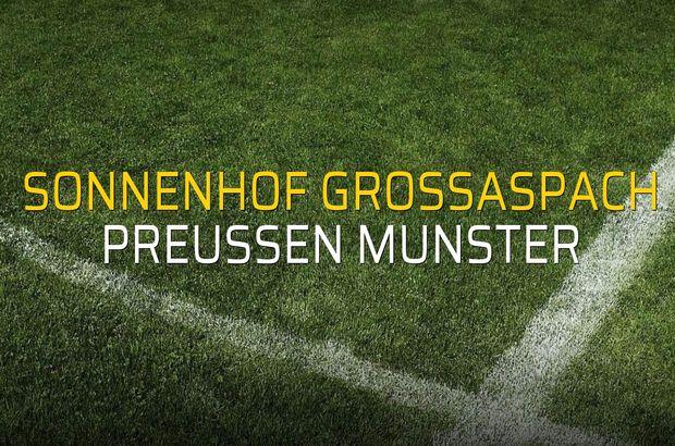 Sonnenhof Grossaspach - Preussen Munster rakamlar