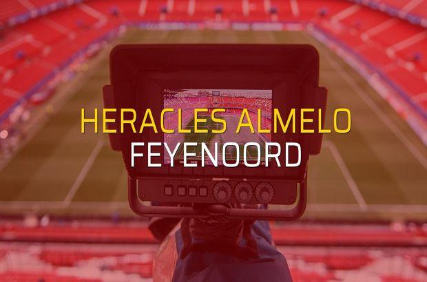 Heracles Almelo - Feyenoord maçı rakamları
