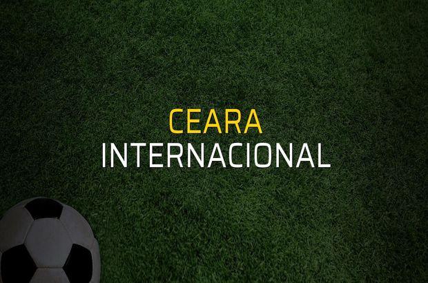 Ceara - Internacional maçı rakamları