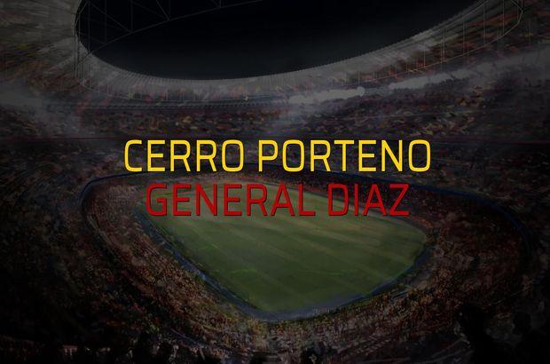 Cerro Porteno - General Diaz maçı rakamları