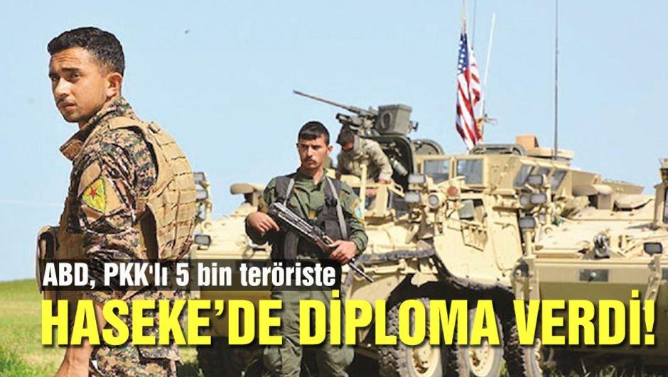 ABD, PKK'lı 5 bin teröriste Haseke'de diploma verdi