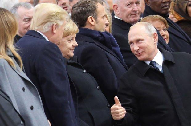 Trump ile Putin Paris'te görüştü!