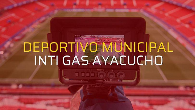 Deportivo Municipal: 2 - Inti Gas Ayacucho: 2