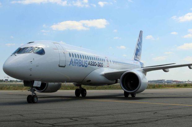 Airbus'un yeni uçağı A220 İstanbul'da
