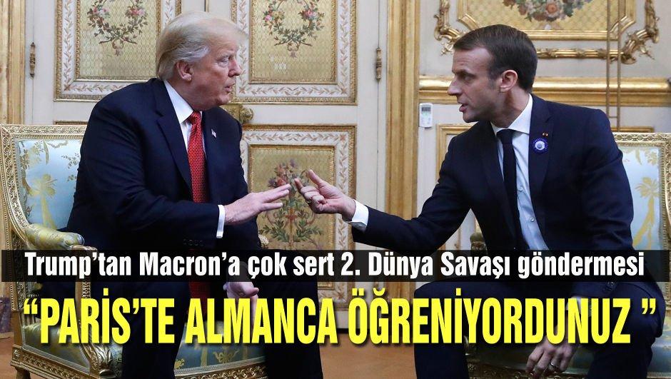 Trump'tan Macron'a çok sert Avrupa Ordusu tepkisi!