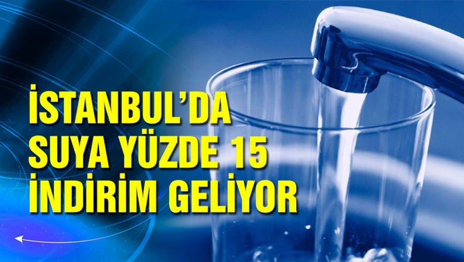 İstanbul'da suya indirim