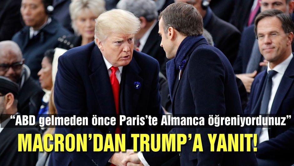 Macron'dan Trump'a yanıt!