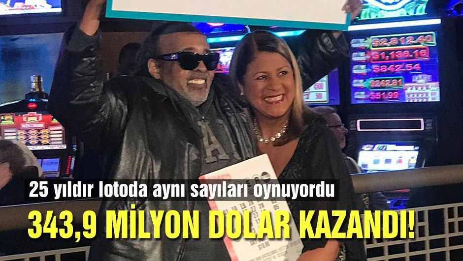 25 yıl aynı sayılarla loto oynadı, 343,9 milyon dolar kazandı!