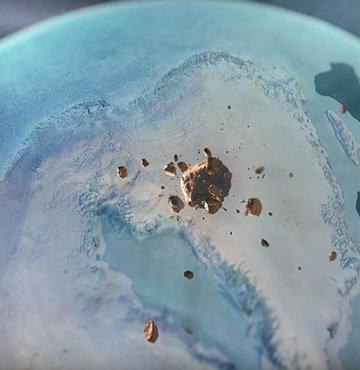 Bir ilk! Dev krater keşfedildi