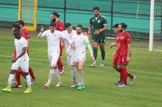 Antalyaspor, Afganistan'la hazırlık maçı yaptı