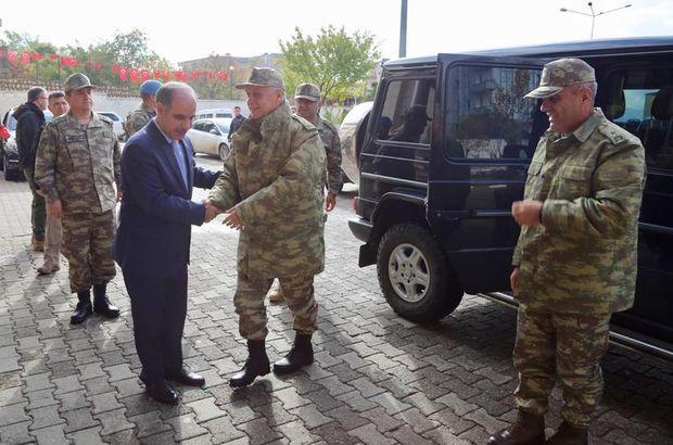 Kara Kuvvetleri Komutanı Şırnak'ta