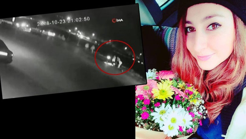 Vicdansız sürücünün çarptığı genç kızın feci ölümü kamerada