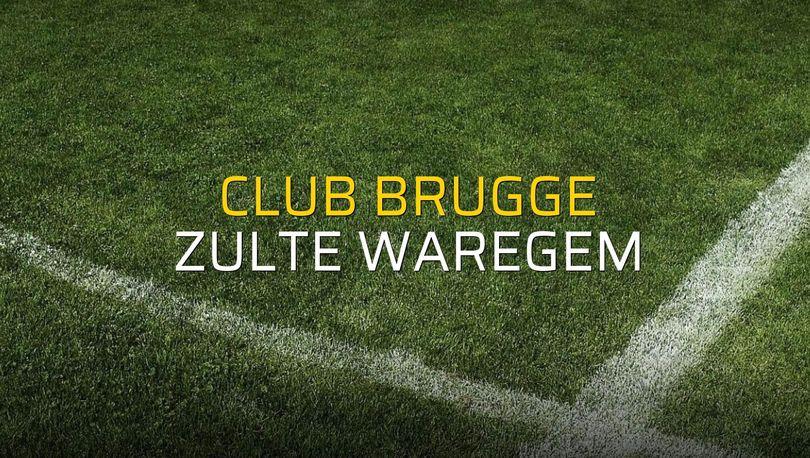 Club Brugge - Zulte Waregem sahaya çıkıyor