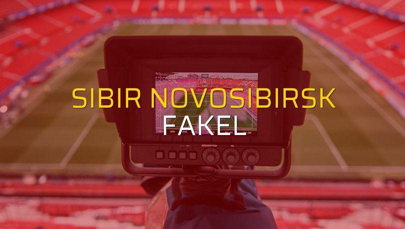 Sibir Novosibirsk - Fakel maçı rakamları