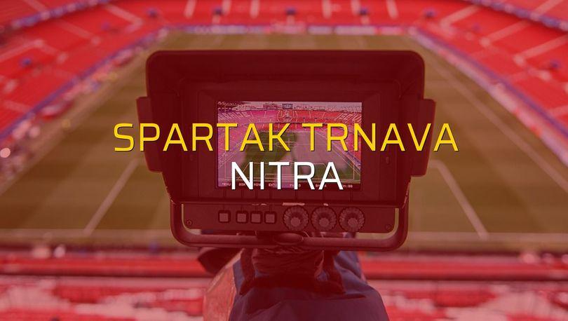 Spartak Trnava - Nitra maçı rakamları
