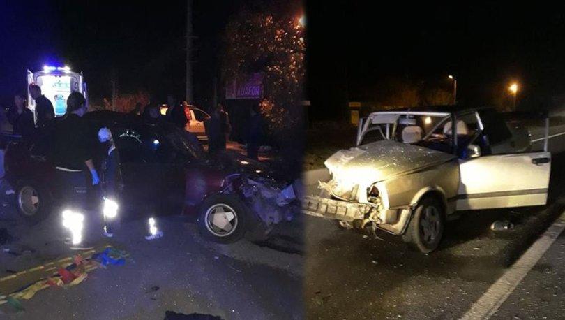 Aydın'da iki otomobil çarpıştı, 3 kişi yaralandı