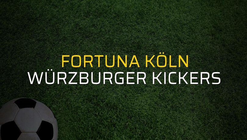 Maç sona erdi: Fortuna Köln: 0 - Würzburger Kickers:0