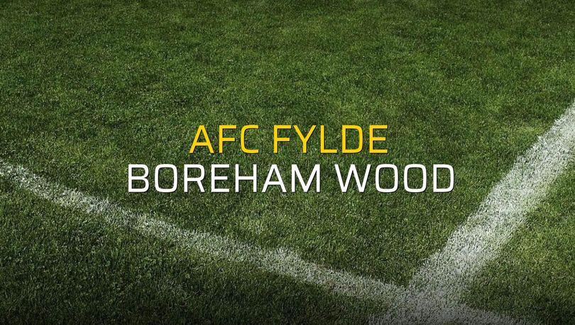 AFC Fylde: 0 - Boreham Wood: 1 (Maç sonucu)