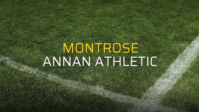 Montrose: 0 - Annan Athletic: 0 (Maç sona erdi)