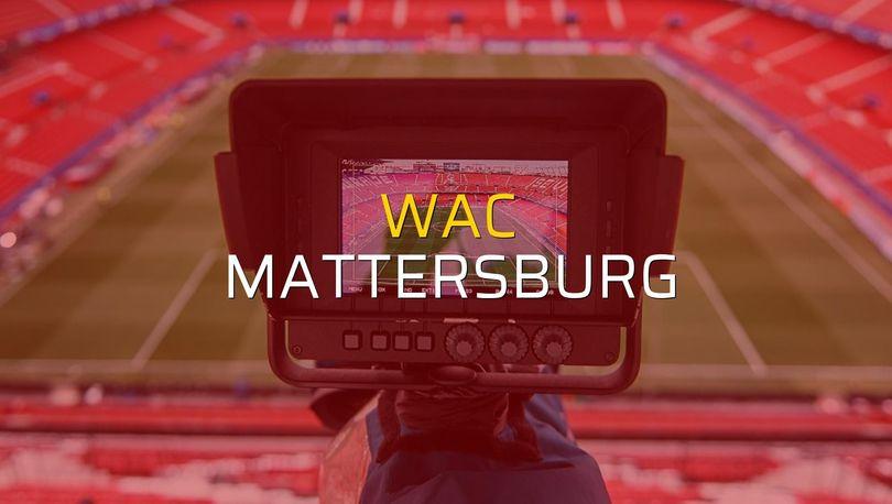 WAC: 1 - Mattersburg: 2 (Maç sonucu)