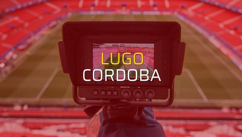 Maç sona erdi: Lugo: 2 - Cordoba:1