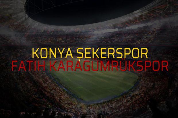 Konya Şekerspor: 1 - Fatih Karagümrükspor: 2 (Maç sona erdi)