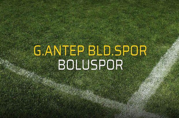 G.Antep Bld.Spor: 0 - Boluspor: 0 (Maç sonucu)