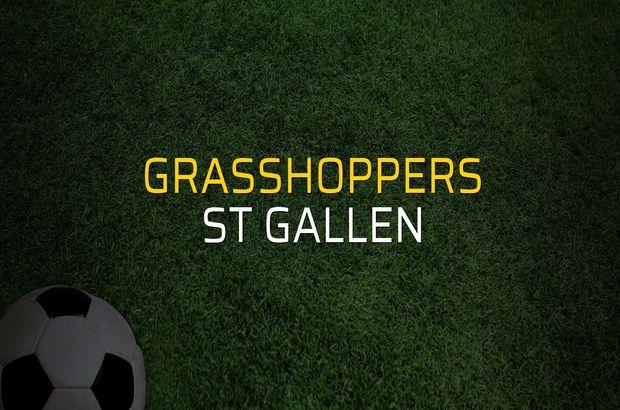 Grasshoppers: 2 - St Gallen: 1 (Maç sona erdi)