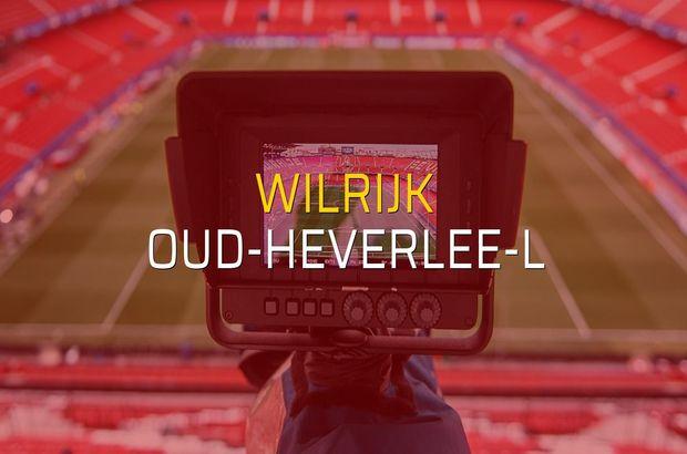 Wilrijk: 3 - Oud-Heverlee-L: 2