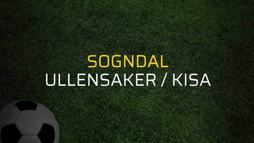 Maç sona erdi: Sogndal: 1 - Ullensaker / Kisa:0