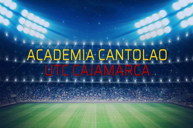 Maç sona erdi: Academia Cantolao: 1 - UTC Cajamarca:0
