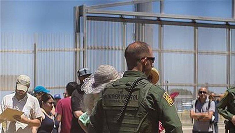Göçmenlerden ABD sınırında protesto