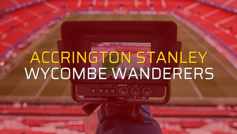 Accrington Stanley - Wycombe Wanderers maçı istatistikleri