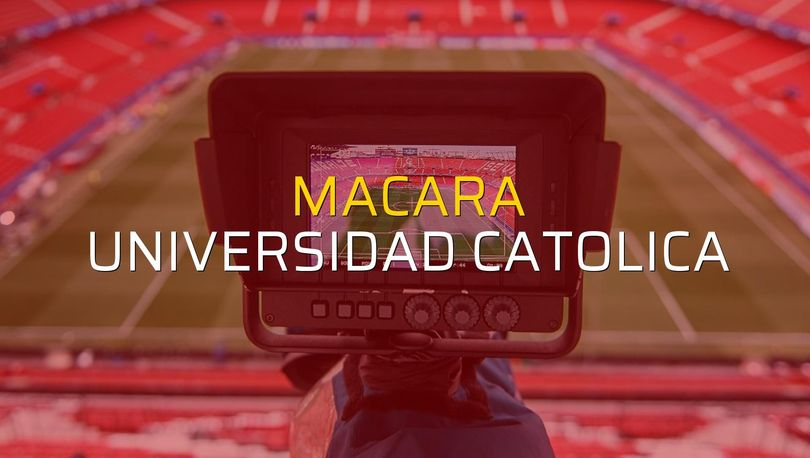 Macara - Universidad Catolica maçı rakamları