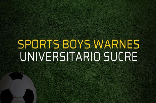Sports Boys Warnes: 2 - Universitario Sucre: 1 (Maç sona erdi)