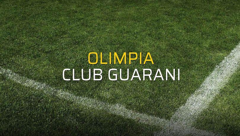 Olimpia: 4 - Club Guarani: 1 (Maç sonucu)