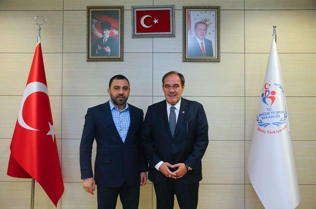 TFF Başkanı Yıldırım'dan Yerlikaya'ya ziyaret