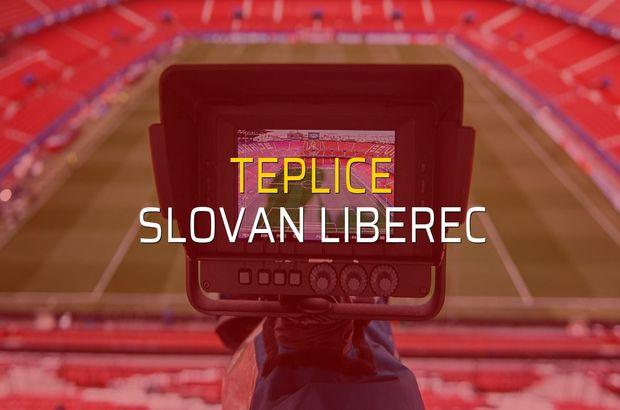 Teplice - Slovan Liberec maçı rakamları