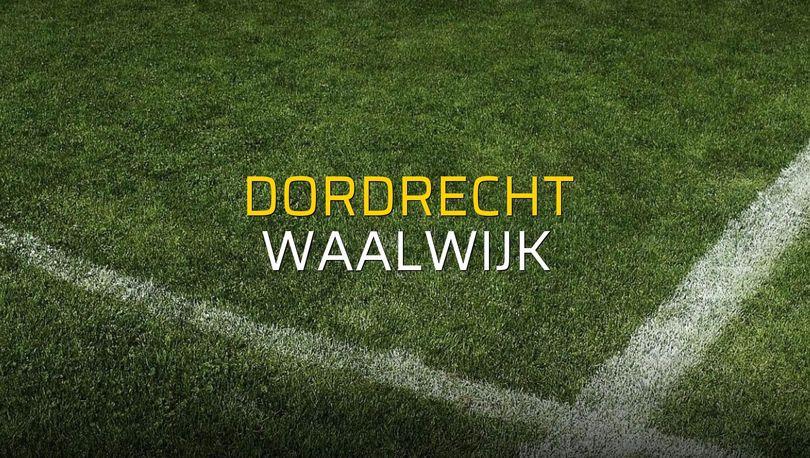 Dordrecht - Waalwijk maçı rakamları