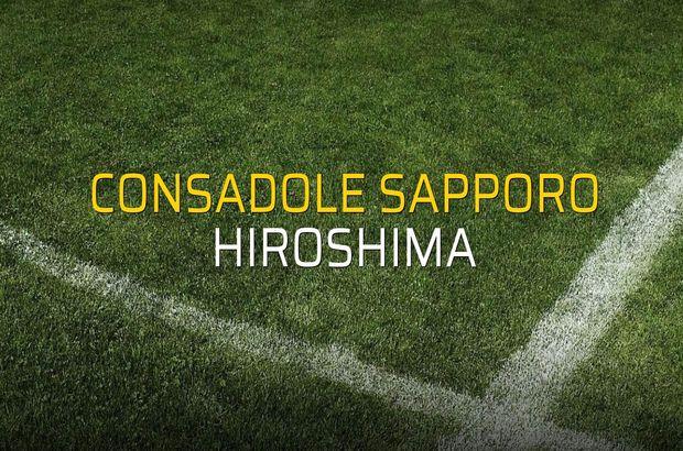 Consadole Sapporo - Hiroshima rakamlar
